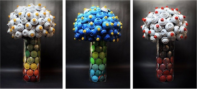 Read more about the article Flower Bouquets Made With Discarded Spray Cans