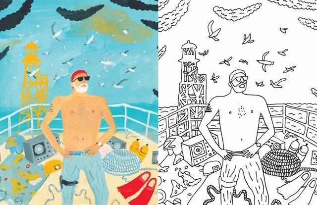 Read more about the article A Bill Murray Coloring Book for Grown-ups (and Maybe Kids, Too)