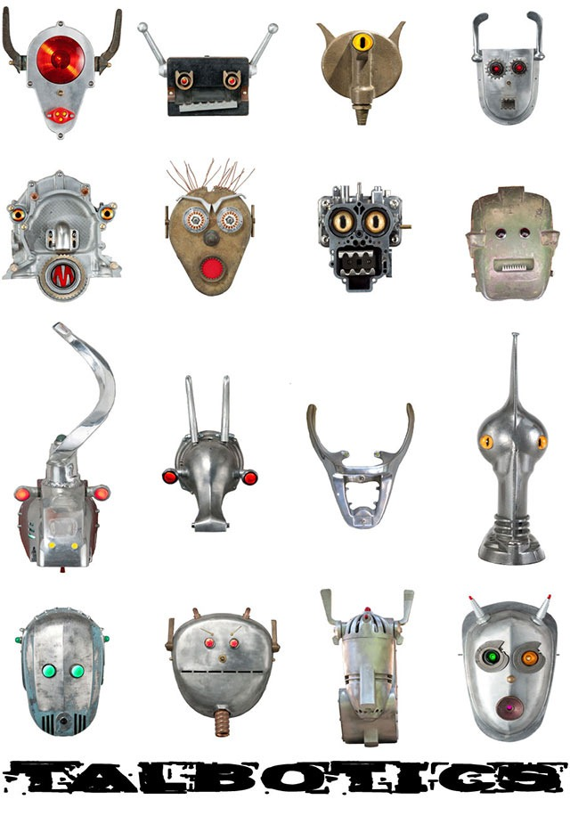 Read more about the article Tal Avitzur's Robot Heads Made From Retro Junk