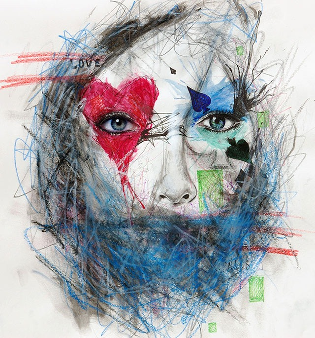 Read more about the article Zach Welch's Mixed Media Portraits