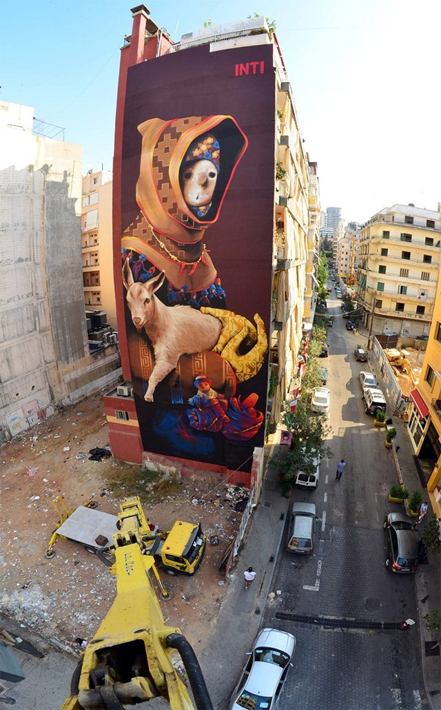Read more about the article Huge Street Art Mural in Beirut by INTI