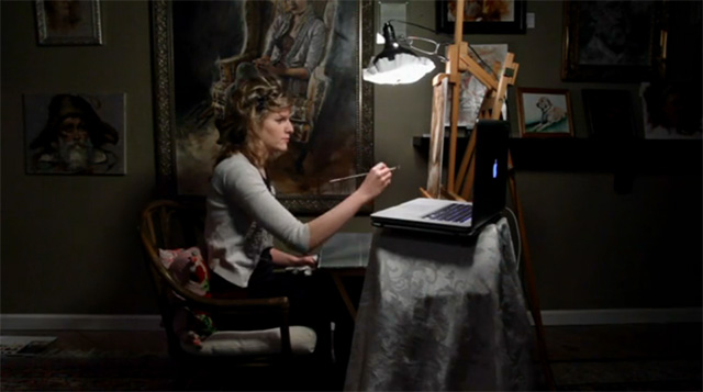 Read more about the article A Beautiful Time-Lapse Video of Artist Jenna Anderson Painting a Self-Portrait