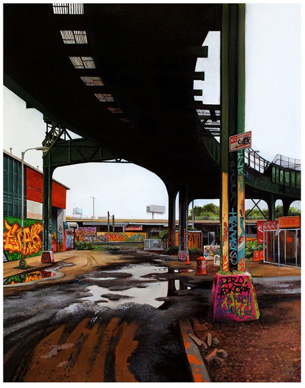 Read more about the article Davis Street I – A Photorealistic Painting by Jessica Hess