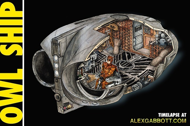 Read more about the article Cross-Section Illustration of The Watchmen Owl Ship