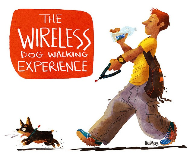 Read more about the article Wireless Dog Walking (JazJaz Flickr Pool)