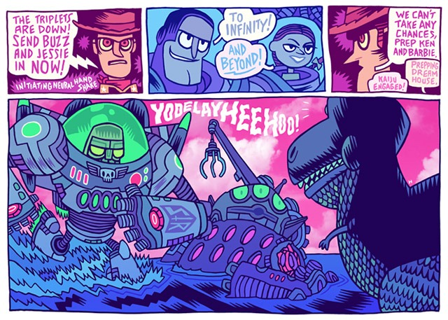 Read more about the article Buzz Light Jaeger vs. Kaiju Rex