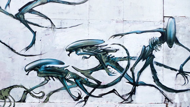Read more about the article Aliens Mural by Jim Vision & Dr Zadok