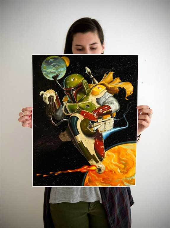 Read more about the article Boba Fett Themed Art Prints by Jonathan Bergeron