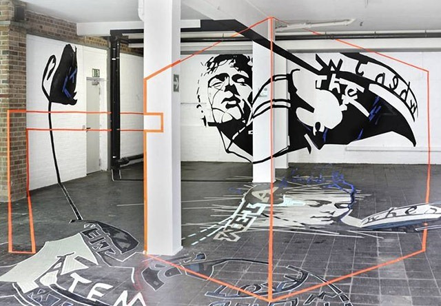 Read more about the article Joerg Mandernach's Anamorphic Tape Art Sculpture