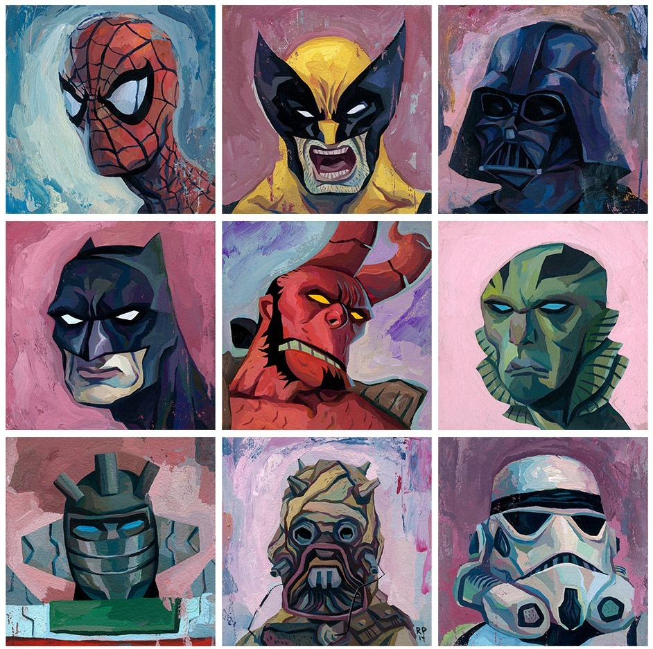 Read more about the article Superhero Portraits by Rich Pellegrino