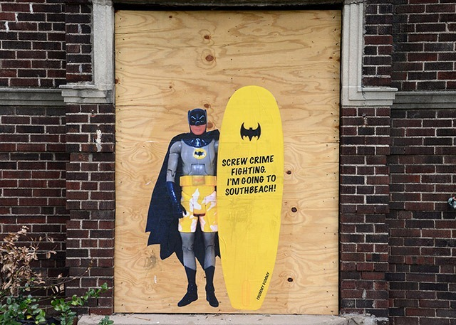 Read more about the article Humorous Action Figure Street Art by Crummy Gummy