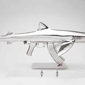 Shark-Gun-stainless-steel-sculptures-by-Chris-Schulz-Blue-AK_2_thumb