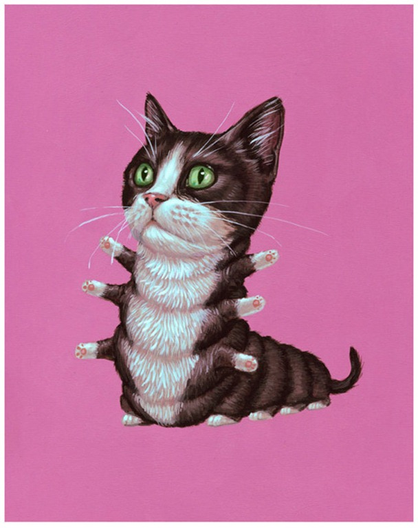 """Read more about the article """"Tuxedo Cat,"""" A Surreal Print by Casey Jones"""