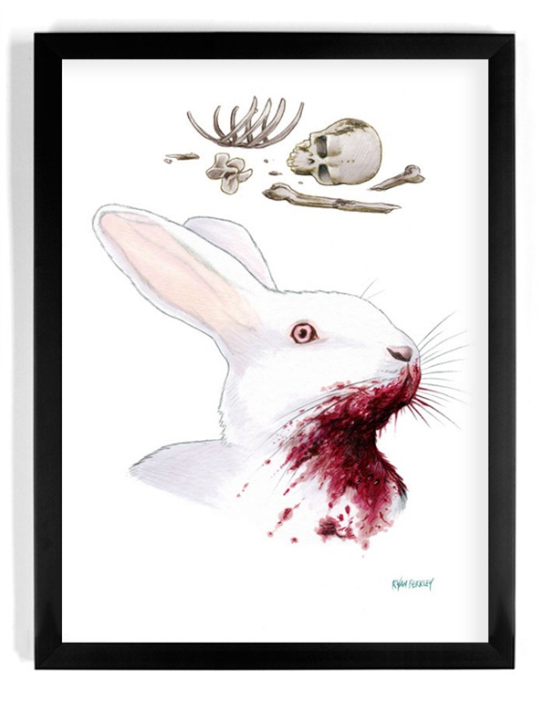 """Read more about the article """"Cinematic Fauna"""" – Illustrations of Famous Animals From Film"""