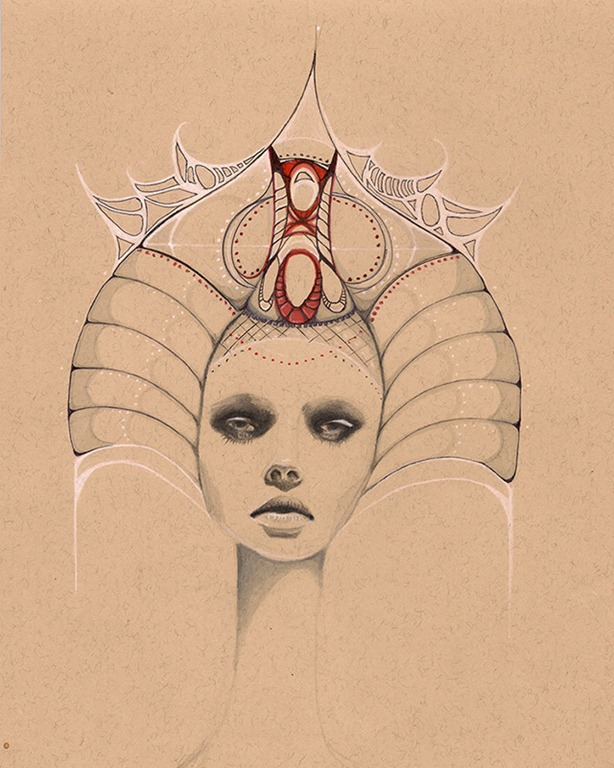 Read more about the article Illustrations of Regally-Beautiful Women in Elaborate Headdresses by Ivette Cabrera