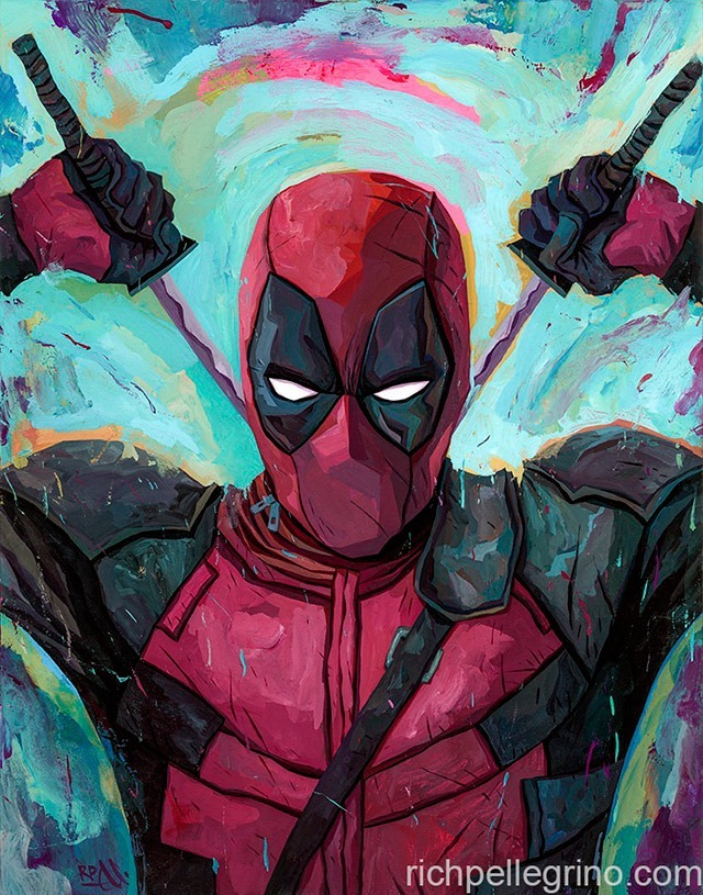 Read more about the article Deadpool Painting by Rich Pellegrino