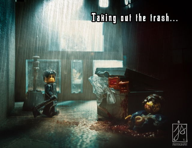 Read more about the article Lego Horror Scenery Created by Finnish Photographer Juhamatti Vahdersalo
