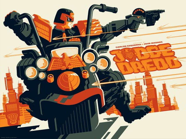 Read more about the article Awesome New Judge Dredd Prints by Tom Halen and Matt Ferguson