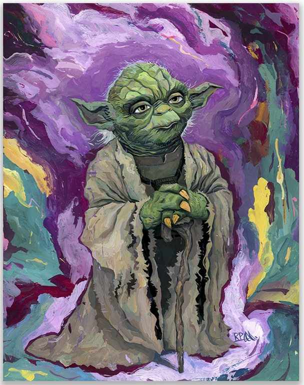 """Read more about the article """"Old Wise One"""" – Stunning Painting of Jedi Master Yoda by Rich Pellegrino"""