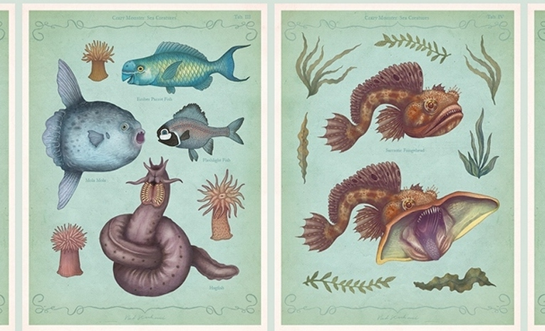 Read more about the article Illustrations of Scary Real-Life Sea Monsters by Vladimir Stankovic