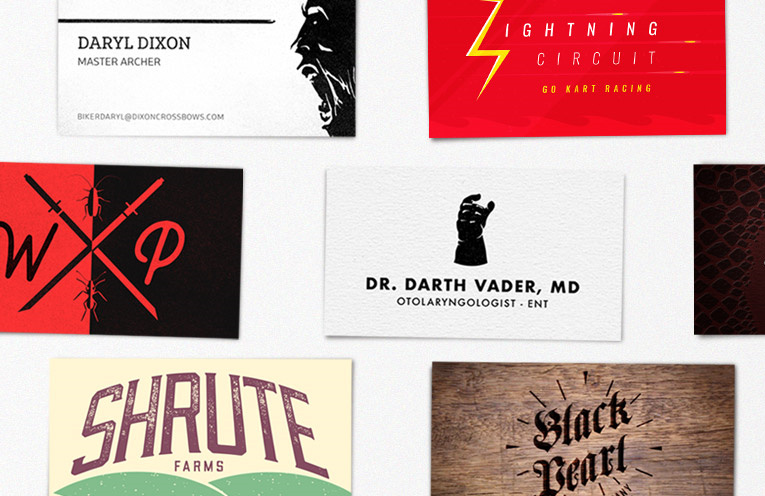 Read more about the article Humorous Business Cards For Famous Pop Culture Characters