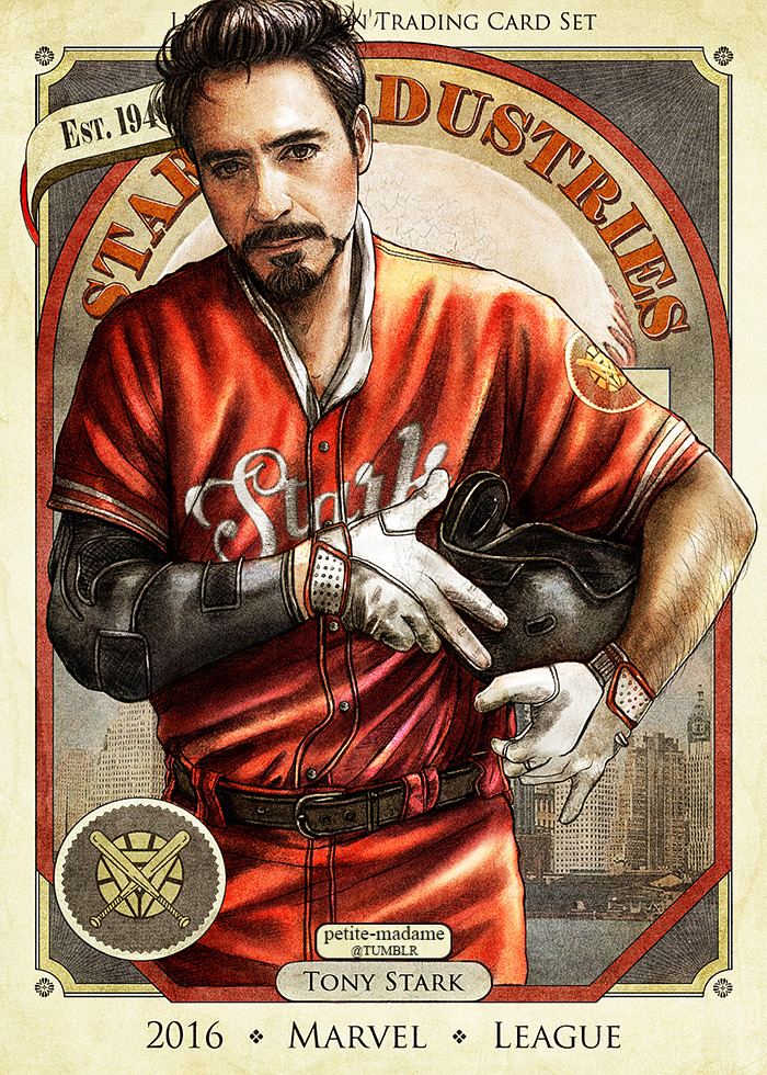 Read more about the article Vintage Baseball Trading Cards Inspired By 'Team Captain America Vs Team Iron Man'